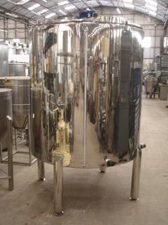 Tanque Misturador em Aço Inox 304, 2.000 litros