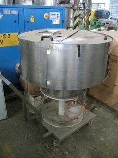 Alimentador de tampa em aço inox